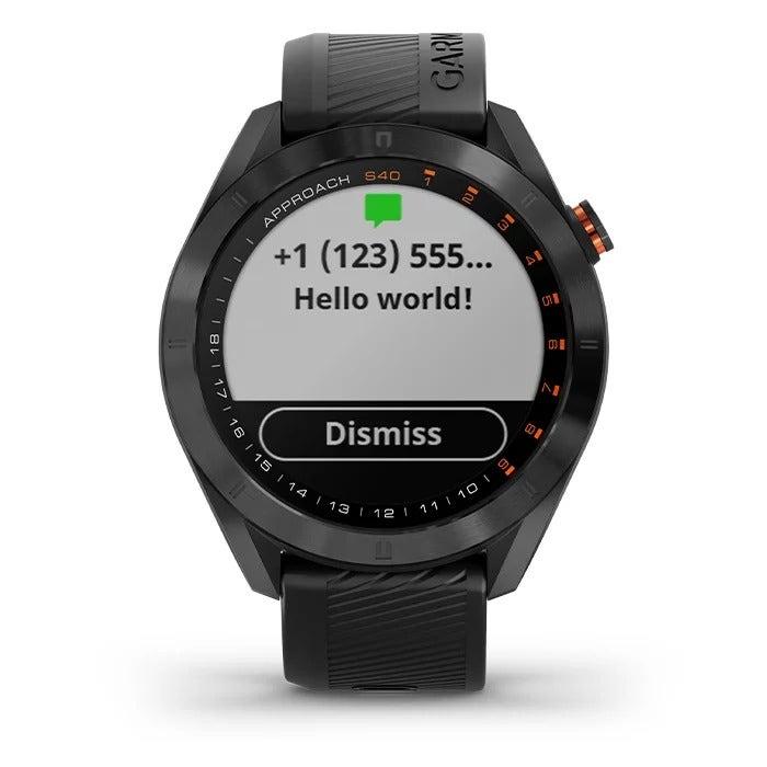 Garmin Approach S40 Smart function